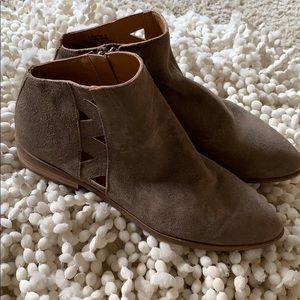Lucky Brand booties. NWOT and never worn